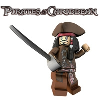 Minifigs Pirates des Caraïbes (33 minifigs)