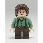 Minifig lor002 : Frodon Sacquet (chemise verte)