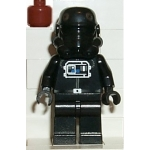Minifig sw035a : Pilote TIE Fighter (tête brun rougeâtre)